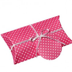 Pillow Box Hot Pink Dotted