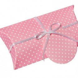 Pillow Box Pink Dotted