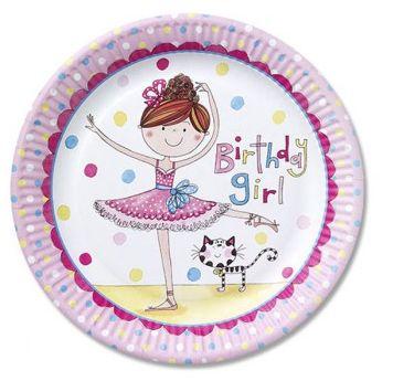 Ballerina Party Plates Rachel Ellen