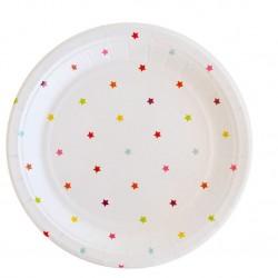 Rainbow Stars Dessert Plates