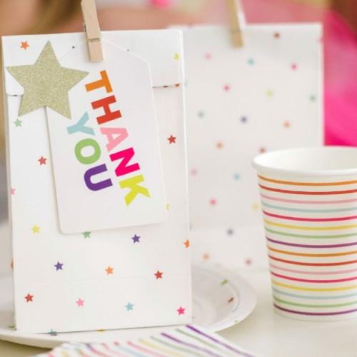 Rainbow Lines Cups