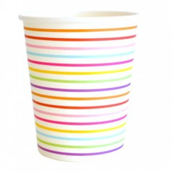 Rainbow Lines Cups
