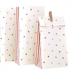 Rainbow Lines & Stars Treat Bags