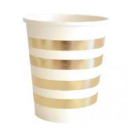 Gold Foil Stripe Cups