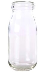 Milk Bottle Plain Glass