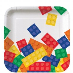 Building Block Party Dessert Plates