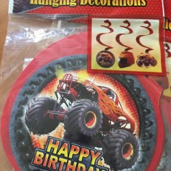 Monster Truck Hanging Swirls