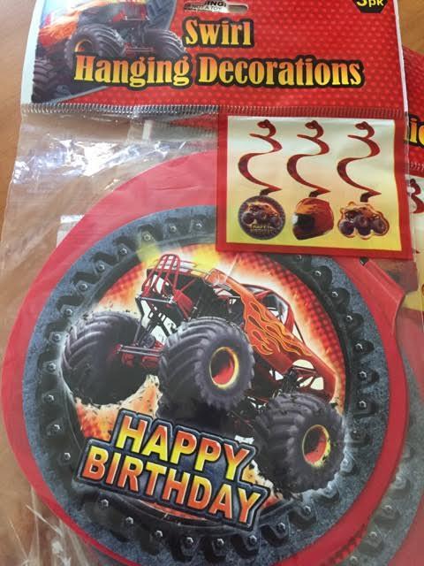 Monster Truck Hanging Swirls