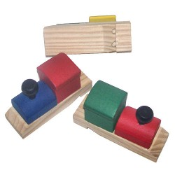 Train Shape Wooden Whistle