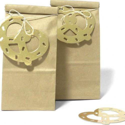 Gold Pretzel Gift Tag