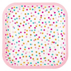 POP Dot Coloured Confetti Plates