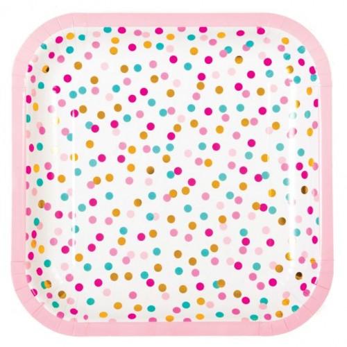 POP Dot Coloured Confetti Plates