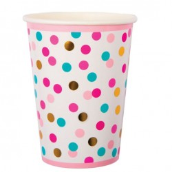 POP Dot Coloured Confetti Cups