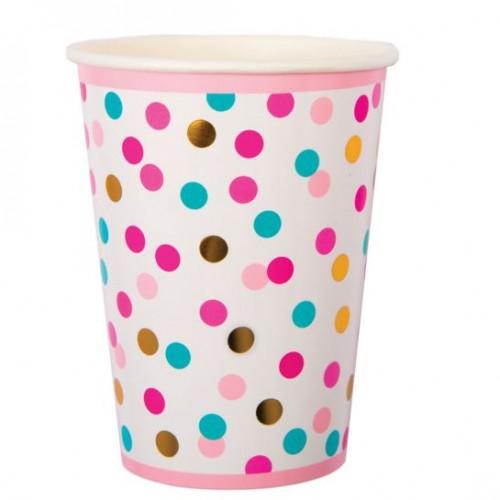 POP Dot Coloured Confetti Cups