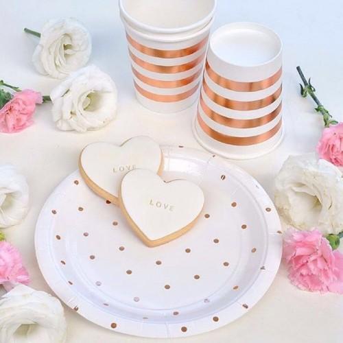 Rose Gold Spot Dessert Plates