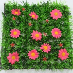 Grass Mat Pink Flowers
