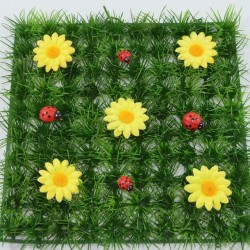 Grass Mat Yellow Flowers