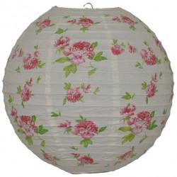 Lantern Round Paper Floral Rose