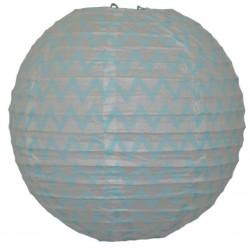 Lantern Chevron Aqua Blue