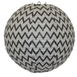 Lantern Chevron Black
