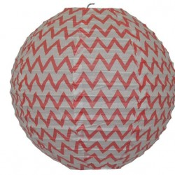 Lantern Chevron Red