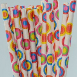 Straws Retro Dots