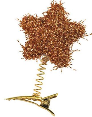 Pegs Tinsel Star Gold