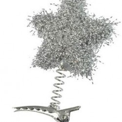 Pegs Tinsel Star Silver