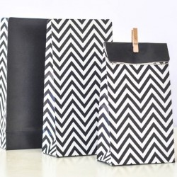 Chevron Black Treat Bags
