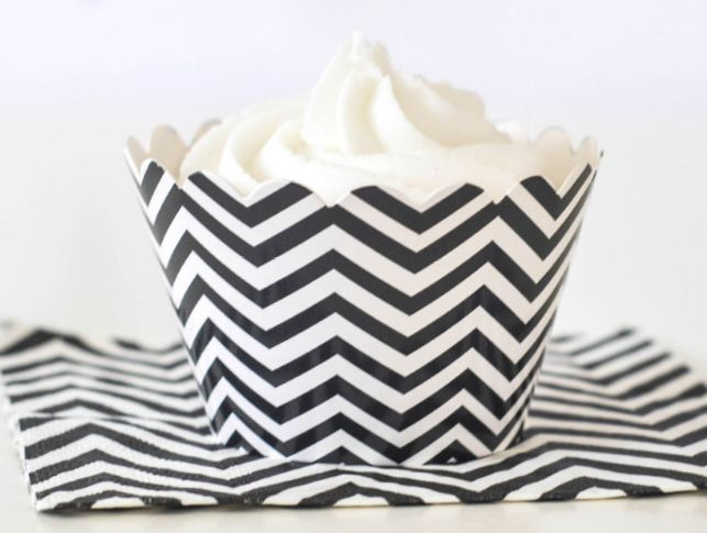 Chevron Black Cupcake Wrappers