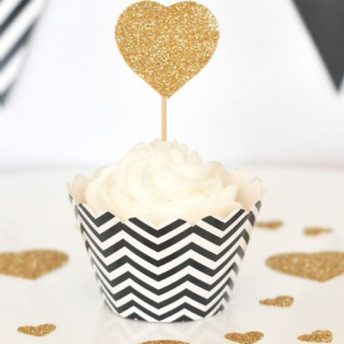 Chevron Black Cupcake Wrappers