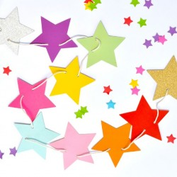 Rainbow Star Reversible Garland
