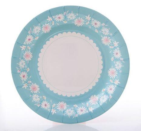 Daisy Chain Blue Plate