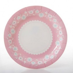 Daisy Chain Pink Plates