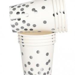 Silver Confetti Cups
