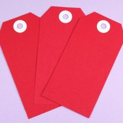 Shipping Tags Red