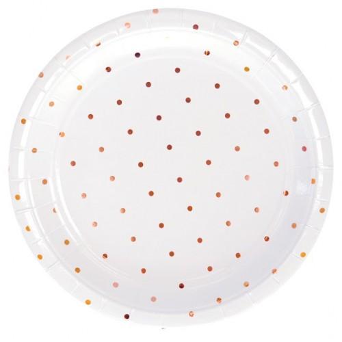 Rose Gold Spot Large Plates