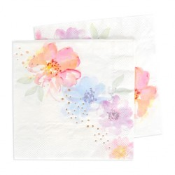 Rose Gold Floral Napkins