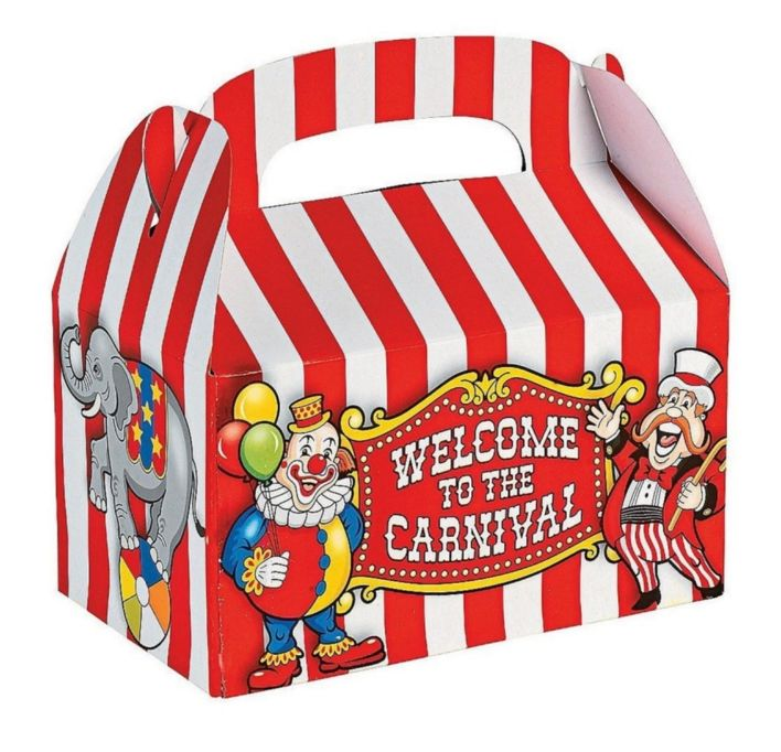 Carnival Big Top Treat Box
