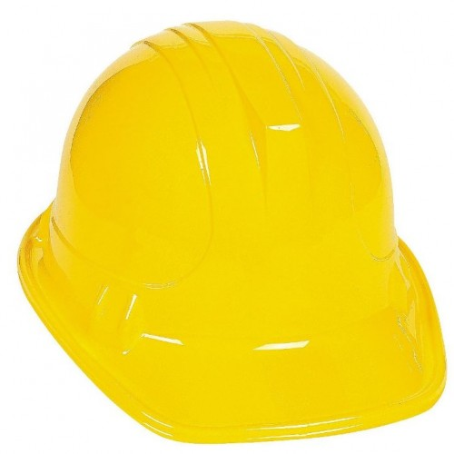 Construction Yellow Plastic Hat