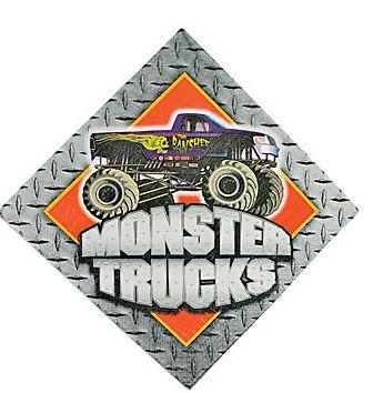 Monster Truck Napkins