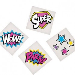 Super Girl Temporary Tattoos