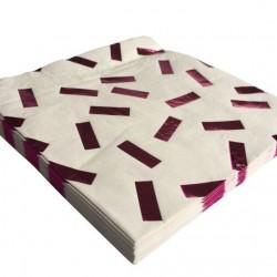 Pink Metallic Confetti Napkins