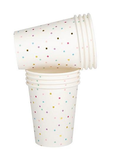 Tiny Square Confetti Cups