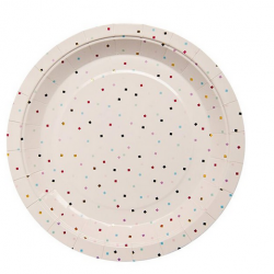 Tiny Square Confetti Plates