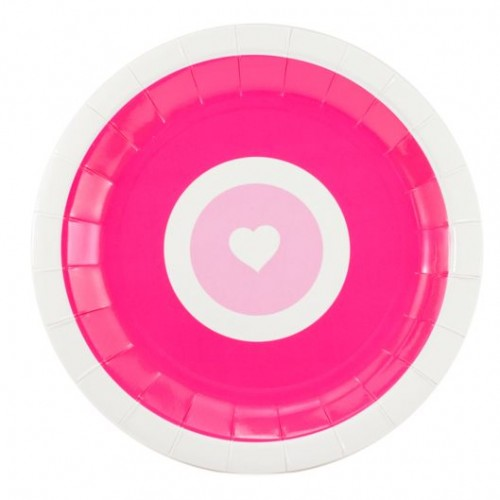Pink Heart  Plates