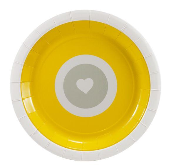 Yellow Heart Plates