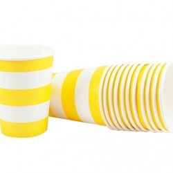Yellow Stripe Cups