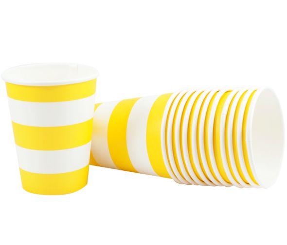 Yellow Stripe Cups
