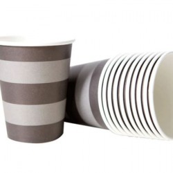 Black Stripe Cups